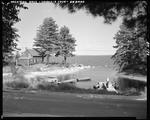Camp And Docks At The Shore In Sebago by George French