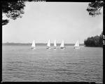 Half A Dozen Small Sailboats On Damariscotta Lake At Camp Wavus In Jefferson by George French