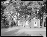 Family Playing Horseshoes Outside Their Cottage In Sebago by George French