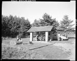 Family Setting Up To Eat Lunch At A Roadside Picnic Area In Damariscotta by George French