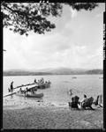Canoeing, Swimming And Boating At A Lake In Lovell by George French