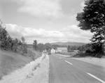 Blacktop Highway In Limington With Mountain Views by George French