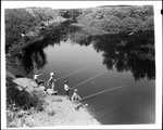 Four Boys Fishing With Alder Poles by George French