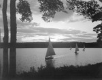 Four Sailboats On Damariscotta Lake by George French