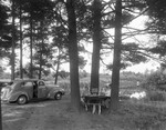 Family At A Roadside Picnic Area Near The Ossipee River In Porter by George French
