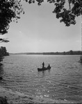 Canoeists On Lake Kezar by George French