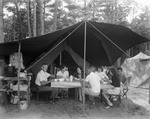 A Family Eating At Their Campsite In Sebago by George French