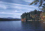 Fall Foliage Along Shore Of Lake Kezar, Mountains Afar by George French