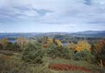 West Pond In Parsonfield From A Distance, White Mountains Afar In Fall by George French