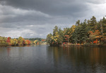 Fall Foliage Along Shores Of Mill Pond In East Sebago by George French