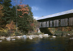 Covered Bridge And Fall Colors by George French
