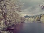 Chocorua Mtn And Chocorua River In Fall by George French