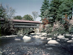 Covered Bridge In Conway, New Hampshire by George French
