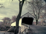 Covered Bridge In Conway, New Hampshire. Redstone. Conway by George French