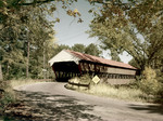 Covered Bridge Near Conway, New Hampshire, Name On Bridge Passaconway by George French