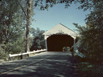 Covered Bridge Over The Saco River In Conway, New Hampshire by George French