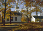 Fall Foliage And Church At Lord's Hill In Effingham, New Hampshire by George French