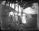 Family Group Standing Outside Rural Home, Kezar Falls by George French