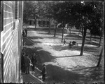 Campus Activity Outside A Dorm Room (Bates College) by George French