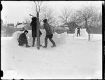 Children Having A Snowball Fight by George French