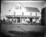 Exterior View Of General Store With People And Horses And Buggy, Parsonsfield by George French