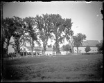 Farmhouse With Attached Barn, Elm Trees & Picket Fence by George French