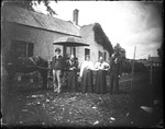 Family Group, Standing With A Horse And Buggy, Outside Of A Home by George French