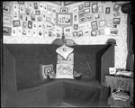 Corner Of A Dorm Room With Many Photographs On The Walls, Bates College by George French