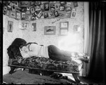 Young Man Asleep On A Sofa In A Dorm Room, Bates College by George French