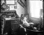 Young Man (Tut Asley) Asleep In Dorm Room, Bates College by George French
