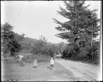 Children Playing Croquet By The Side Of A Road by George French