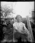 Young Man (Ern) Sitting On Steps by George French