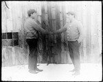 Double Exposure, Ernie Shaking Hands With Himself by George French