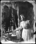 Elderly Woman Peering Out Of A Window by George French
