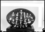 1907 Bates College Trophy Football With Team Members' Pictures Pasted On by George French