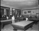 Young Boys In Hall Playing Pool by George French