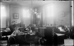 People At Work In The Adjutant General's Office, Capital Building, Augusta, Me by George French