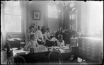People At Work In The Adjutant General's Office, Capitol Building, Augusta, Me by George French