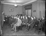 All Male Group Of Collee Students In Class Listening To A Speaker, New Jersey by George French