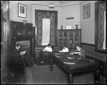 Group Of Young Men (Boys) Reading In A Lounge At School, Picture Of T. Roosevelt On Wall, N.J. by George French