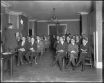 Large Group Of Men Sitting In A College Classroom, New Jersey by George French