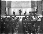 Professor Lecturing To Male Students In An Auditorium, New Jersey by George French