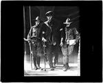 Two Boy Scouts & An Elderly Man Reflected In A Funhouse Mirror by George W. French
