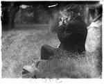 Seated Man Smoking A Pipe by George W. French