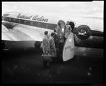 Bates College [people getting on an airplane] by George W. French