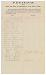 1909-02-08  Petition of Sarah B. Abbott and others in favor of women's suffrage