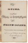 House Journal 1824 by Maine State Legislature (4th: 1824)