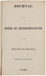 House Journal 1840 by Maine State Legislature (20th: 1840)