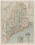 Railroad Map of Maine, 1937 by Public Utilities Commission