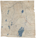 Plan representing the land, water, and roads within the town of Chesterville by Oliver Sewall